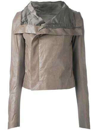jacket biker jacket classic nude
