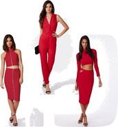 four one oh,blogger,skirt,jumpsuit,red,two-piece,bodycon,romper