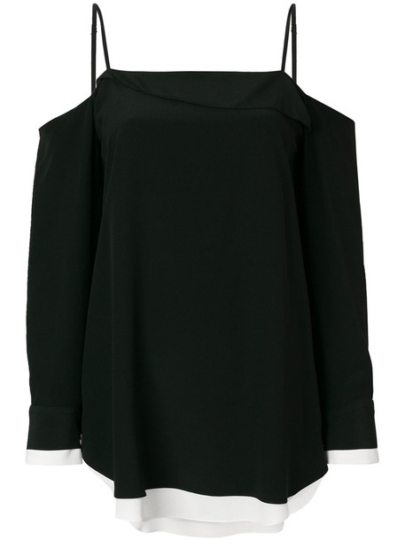 top women cold black silk