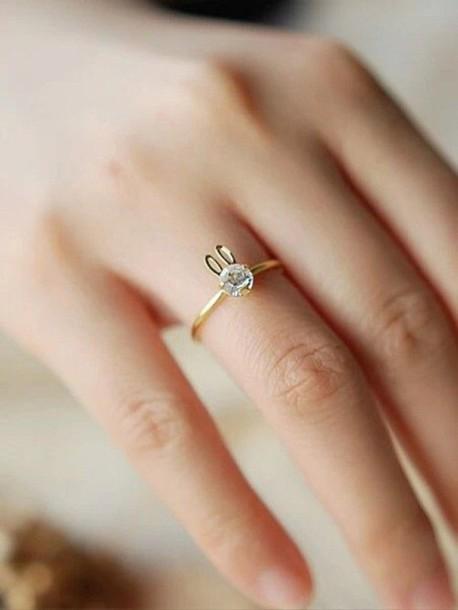 Jewels Ring Diamonds Bunny Wheretoget