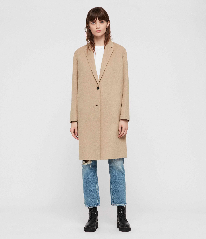 ALLSAINTS US: Womens Anya Coat (camel_brown)
