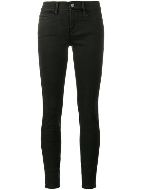 Frame Denim jeans women spandex cotton black