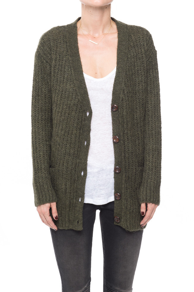 Loose Fit Knitted Cardigan