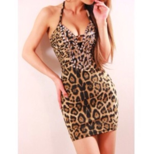 dress leopard print cute dress cute