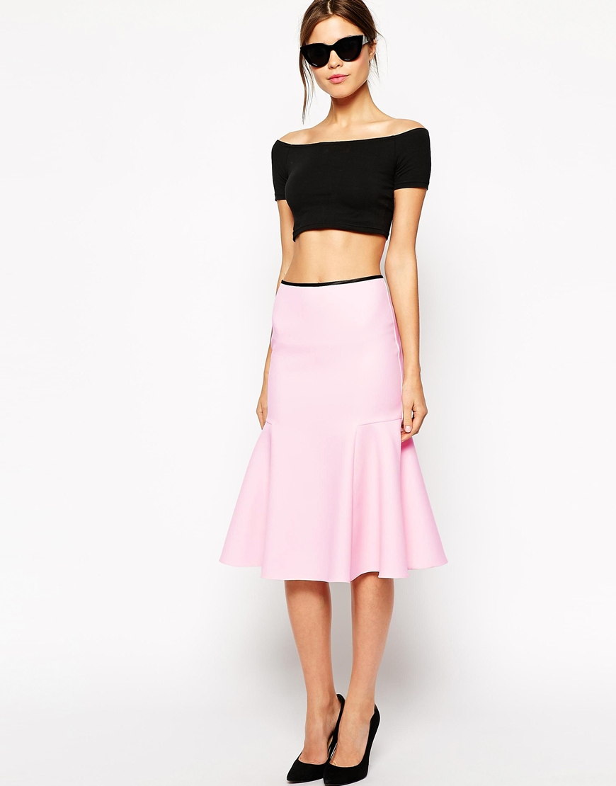 Warehouse bonded skirt at asos.com