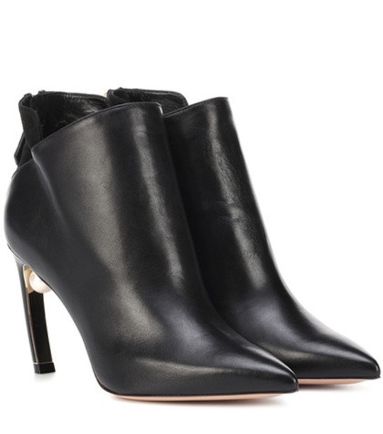 Nicholas Kirkwood Leather ankle boots in black