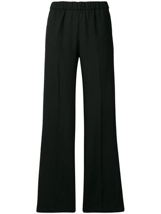 pants women black wool