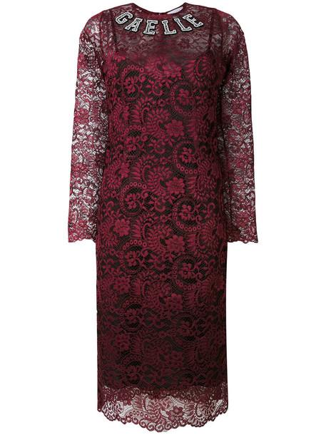dress long women lace red