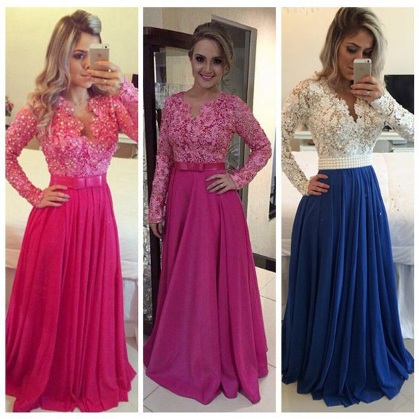 dress, evening dress, long sleeves, black evening dresses, prom ...