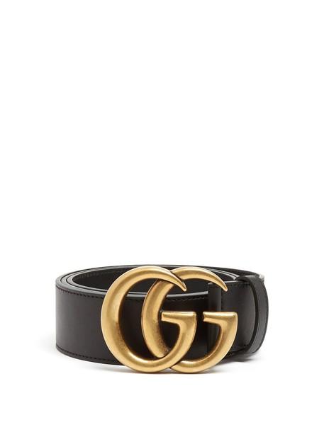 gucci belt leather black