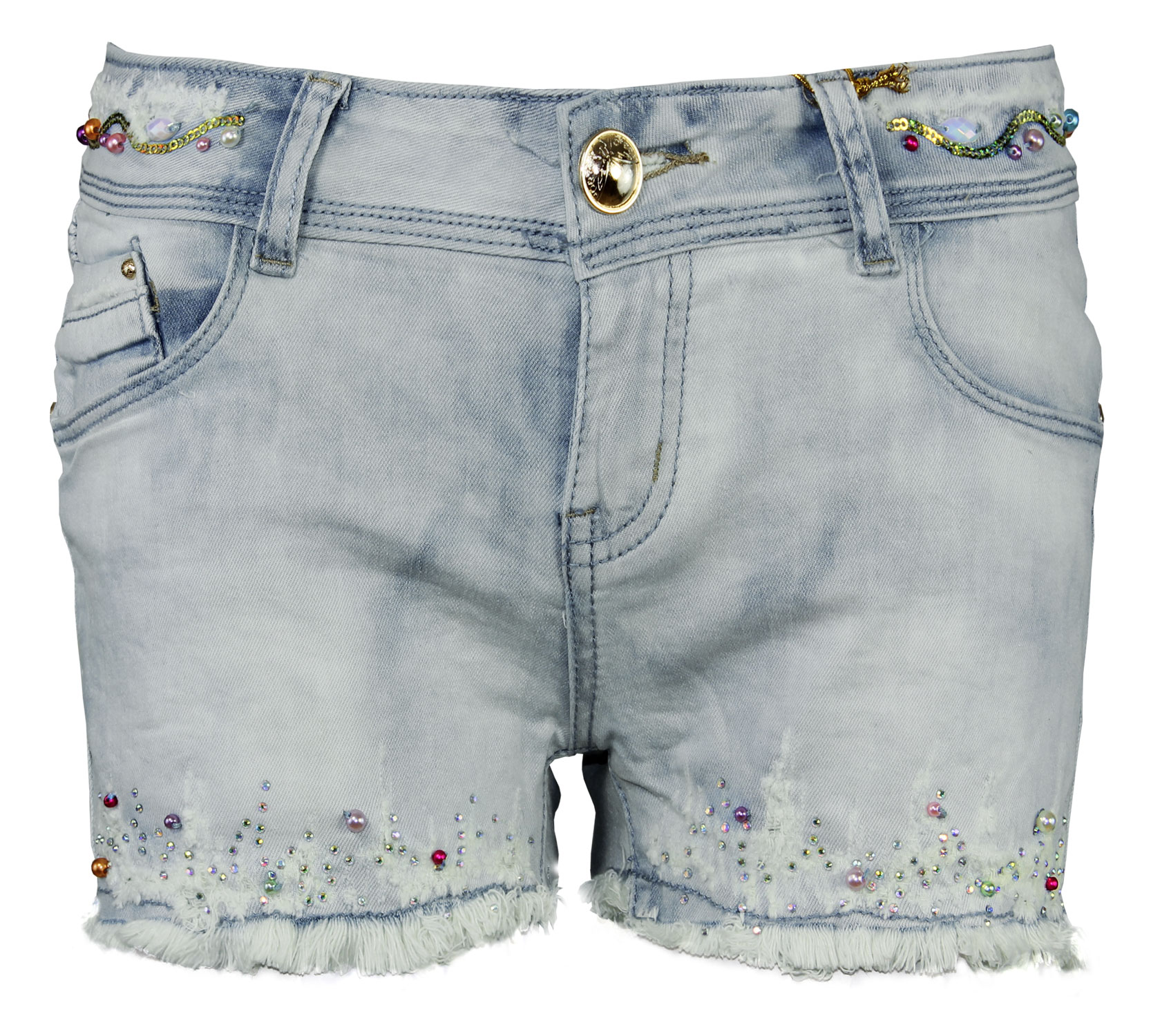 LADIES FRAYED DISTRESSED DIAMANTE DENIM HOTPANTS WOMENS SHORTS JEANS | eBay