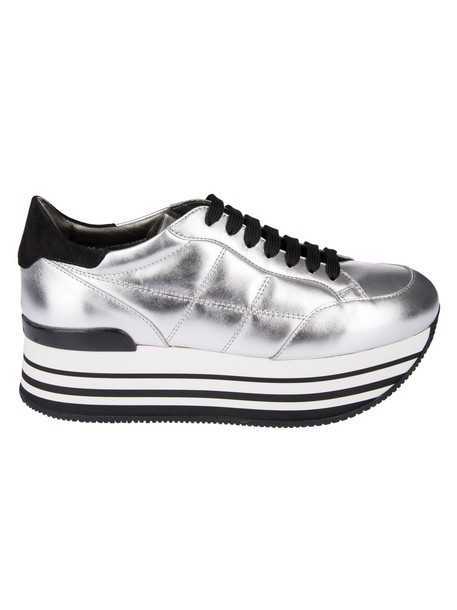 Hogan maxi sneakers platform sneakers silver shoes