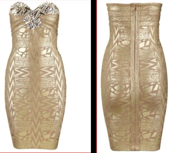dress gold bodycon