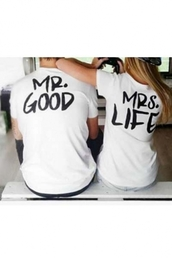 t-shirt,beautiful halo,couple sweaters,white,good life,grunge,instagram,indie,tumblr,matching couples,couples shirts