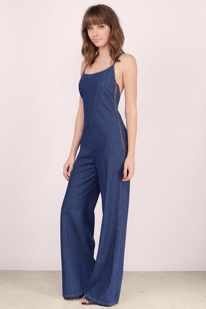 romper jumpsuit blue
