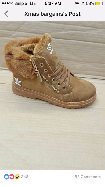shoes adidas suede fur boots booties
