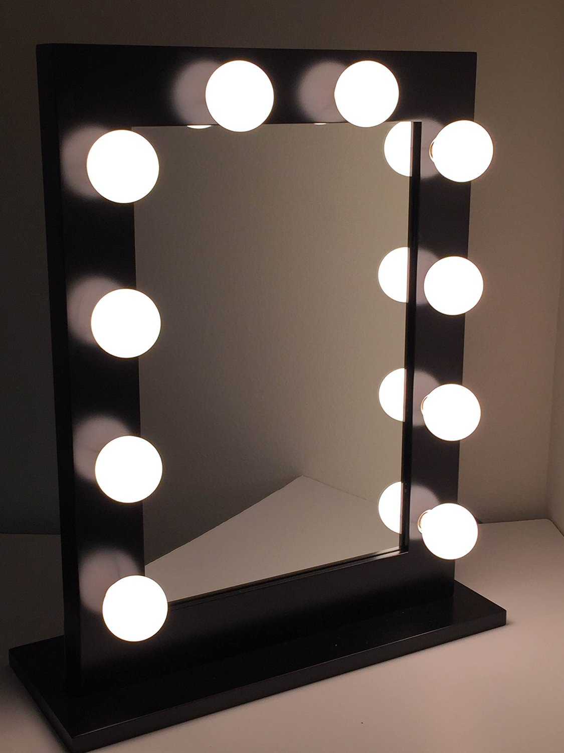 Amazon.com - Chic Hollywood Lighted Make-up Vanity Back Stage Mirror (Black) -
