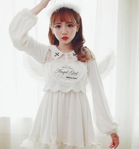 Dress Lolita Goth Sweet Kawaii Blouson Devil Angel