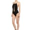 One piece swimsuit w/ metal chain straps