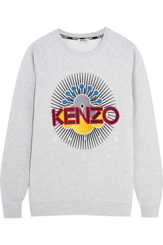 sweatshirt embroidered light cotton sweater