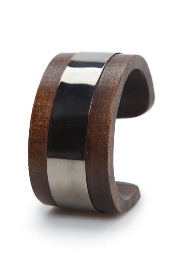 jewels metal plate wooden cuff metal wooden cuff cuff bracelets mango