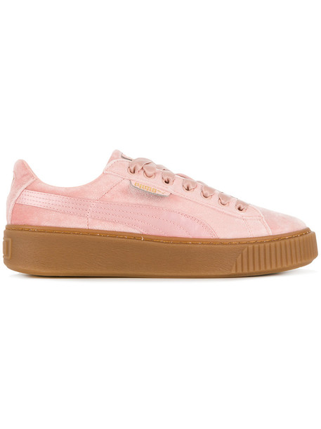 puma women sneakers platform sneakers velvet purple pink shoes