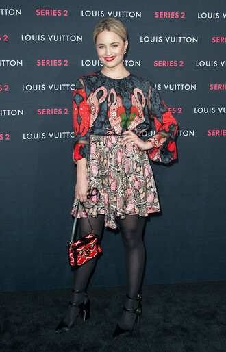 dianna agron colorful mini bag print top shoes bag