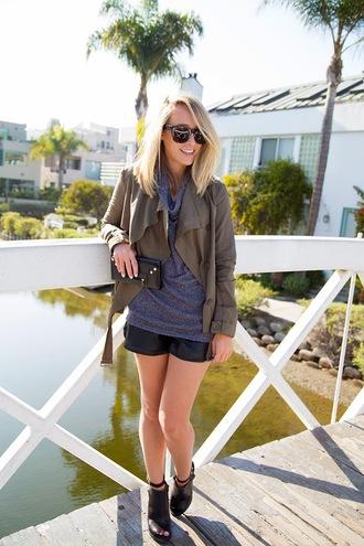 shoes jacket sweater shorts mint the blog