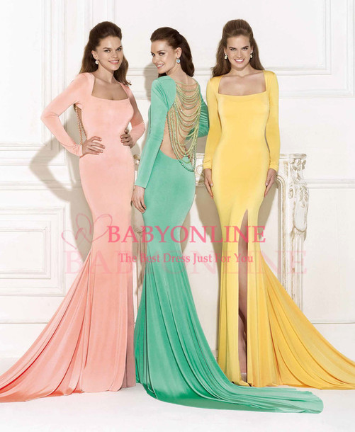evening dress prom dress mermaid evening dress vestidos de festa tarik ediz dress