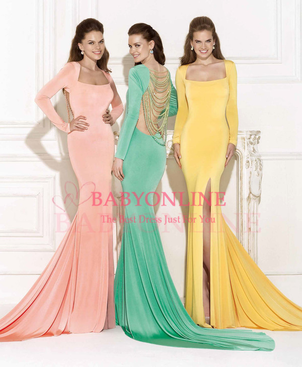 evening dress prom dress mermaid evening dress vestidos de festa tarik ediz dress