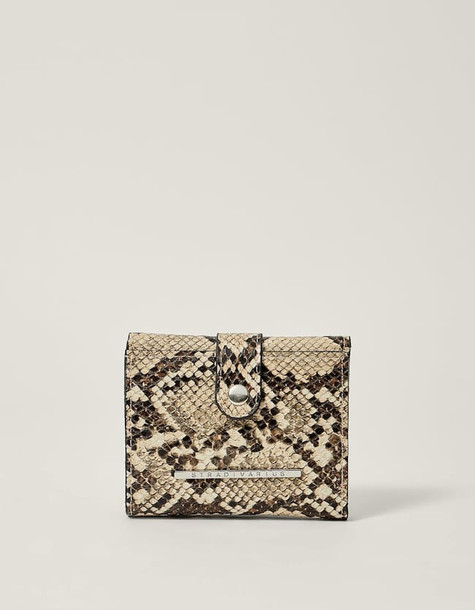 mini purse print beige bag
