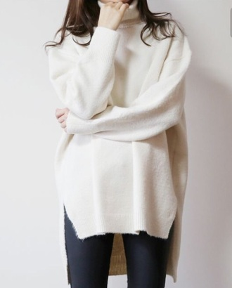 sweater natural white cream   top