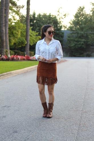 gracefullee made blogger shirt skirt jewels make-up shoes sunglasses