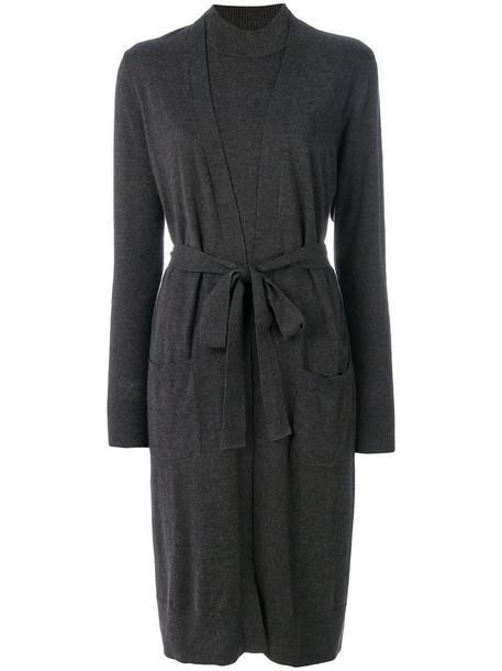 dress women cotton black silk