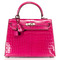 25cm fuchsia shiny nilo crocodile kelly by heritage auctions special collection | moda operandi