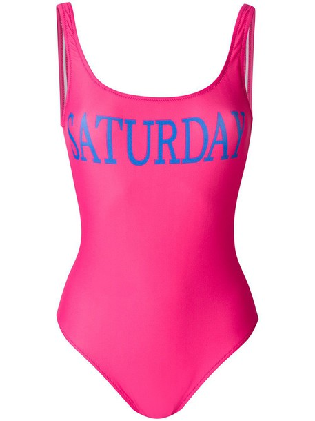 Alberta Ferretti purple pink swimwear