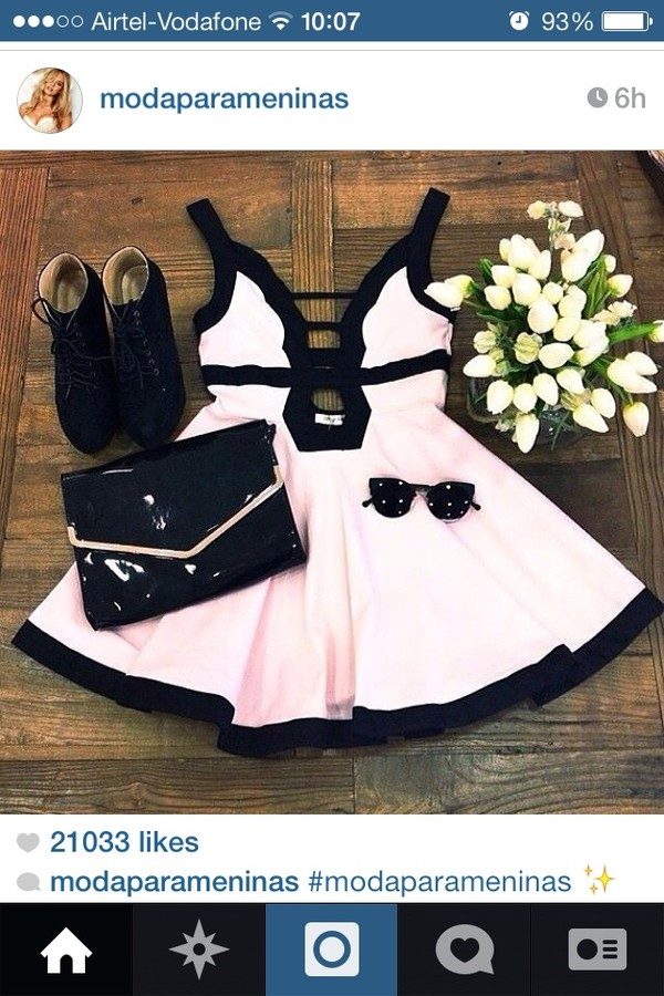 dress shoes pink dress sunglasses flowers black white cut-out dress cut-out summer dress really bad pink little black dress open back short party dresses cute beautiful summer party weheartit bag girly lovely cream pink fashion black dress style skater dress strapless dress polyester