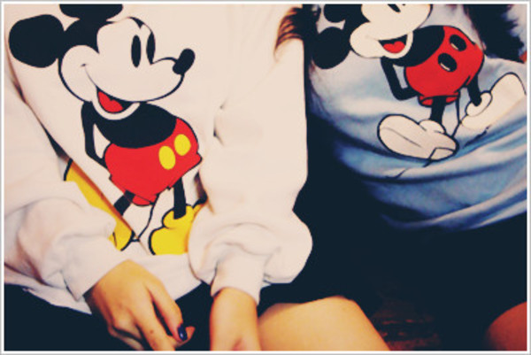 sweater mickey mouse cute sweater