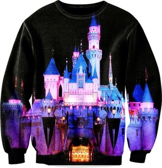 sweater cinderella castle disney