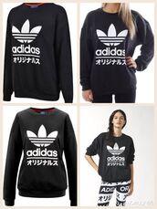 sweater,adidas,typo,tokyo,sweatshirt,jumper,hoodie,wanttttttt ❤️❤️❤️❤️,trefoil