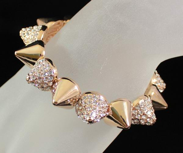 SPIKE STUD CLEAR AUSTRIAN RHINESTONE CRYSTAL GOLD BRACELET BANGLE CUFF B1594G | eBay