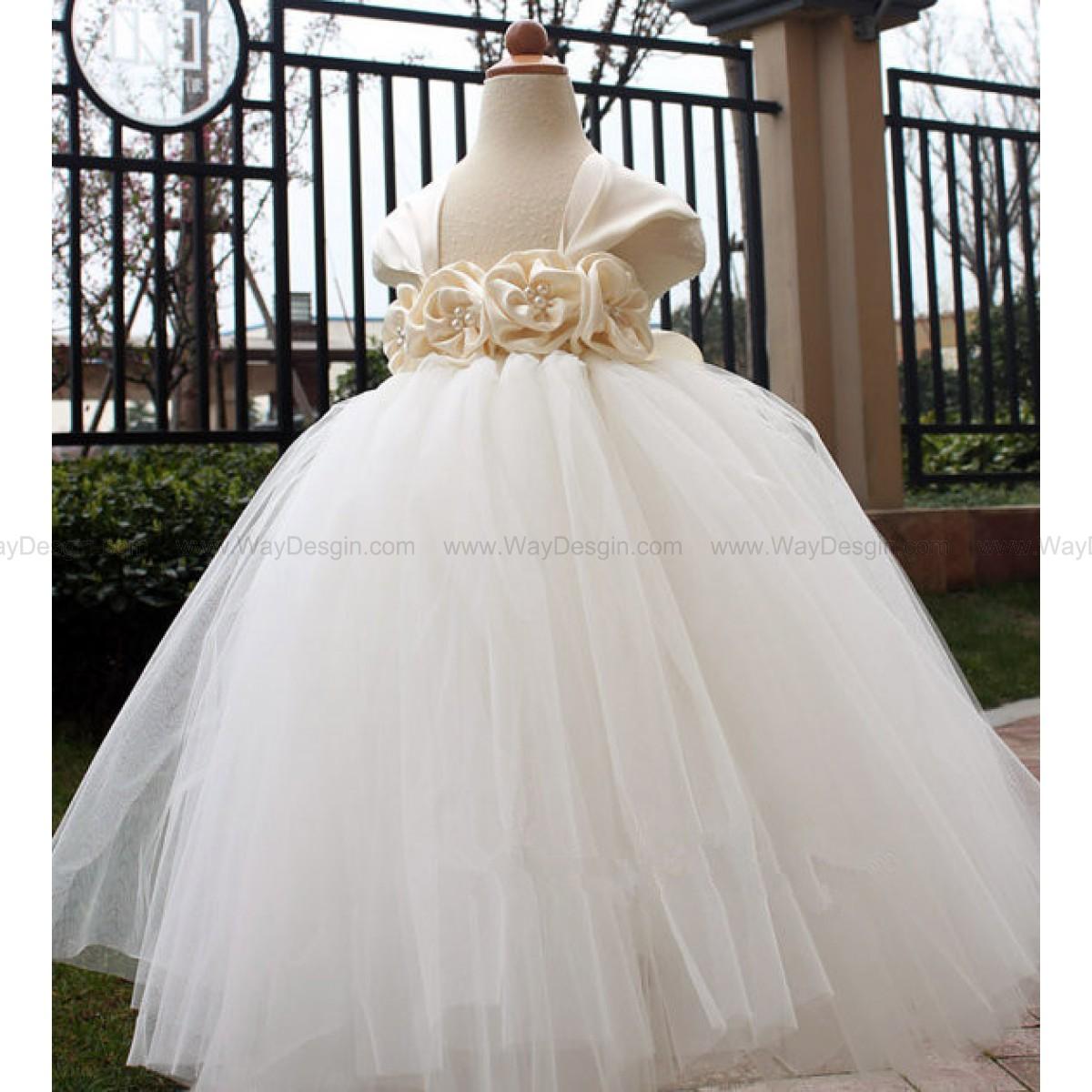 Ivory Flower Girl Dress Ivory tutu dress baby dress toddler birthday dress wedding dress