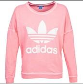 sweater,pink adidas,adidas