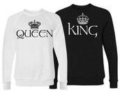 sweater,black hoodies king and queen,hoodie