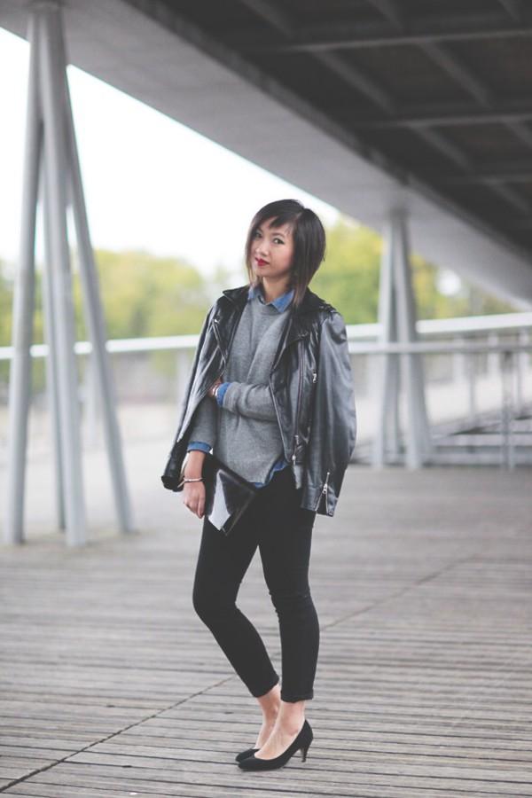 le monde de tokyobanhbao blogger jacket bag jeans jewels make-up nail polish leather jacket