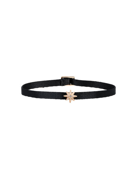 mini women anklet gold black jewels