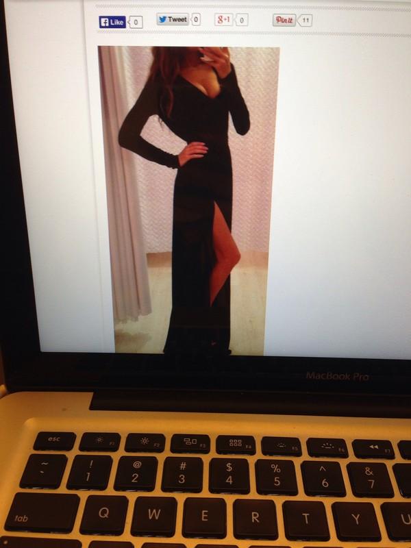 dress maxi dress black