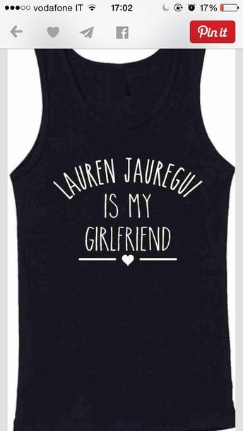 Fifth Harmony lauren jauregui t-shirt top black