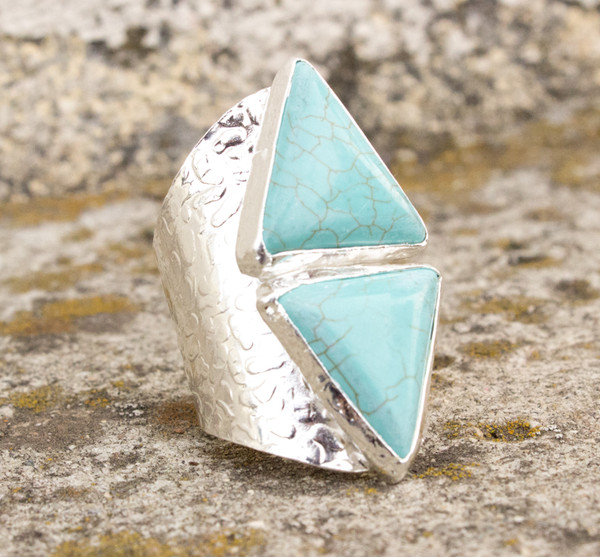 jewels ring cigar turquoise triangle aztec