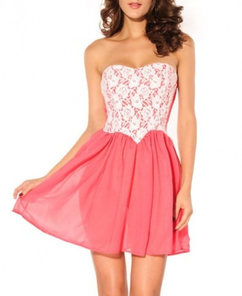 dress pink dress cute cute dress lace